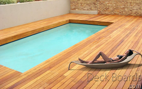 Garapa wood deck