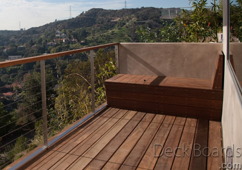 Ipe deck boards in Hollywood, California.
